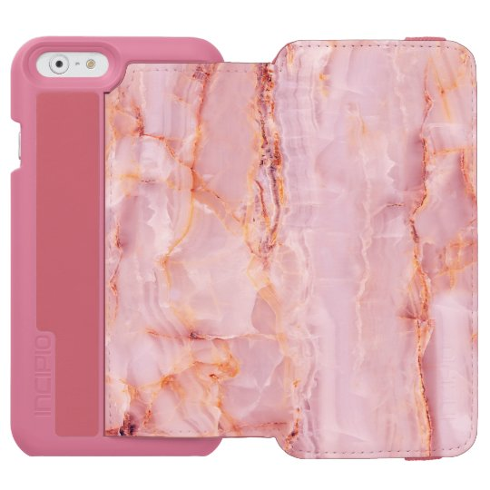 beautiful,pink,marble,girly,nature,stone,elegant,g incipio watson™ iPhone 6 wallet case