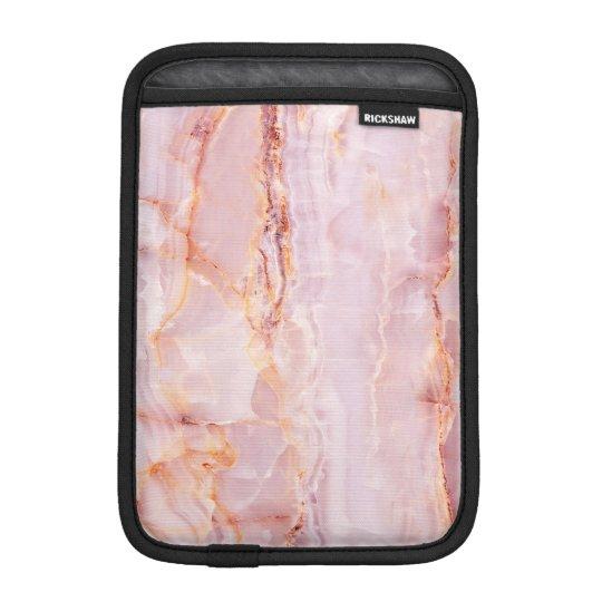 beautiful,pink,marble,girly,nature,stone,elegant,g iPad mini sleeve