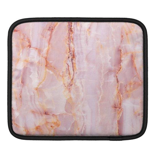 beautiful,pink,marble,girly,nature,stone,elegant,g iPad sleeve