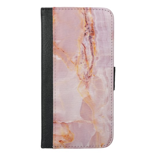 beautiful,pink,marble,girly,nature,stone,elegant,g iPhone 6/6s plus wallet case