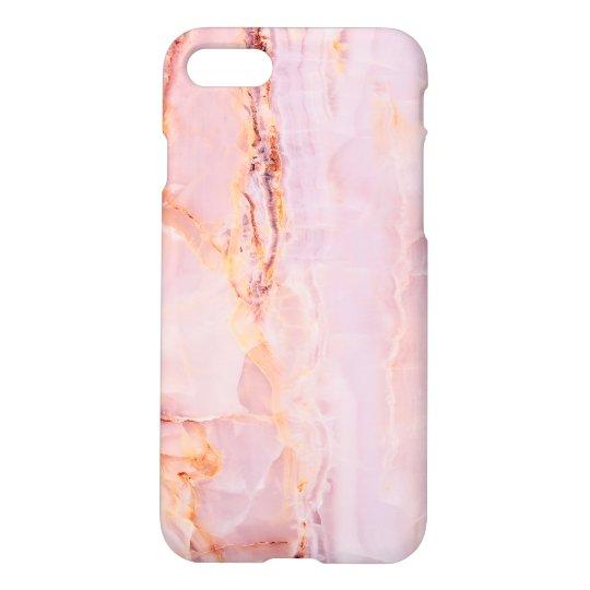 beautiful,pink,marble,girly,nature,stone,elegant,g iPhone 8/7 case