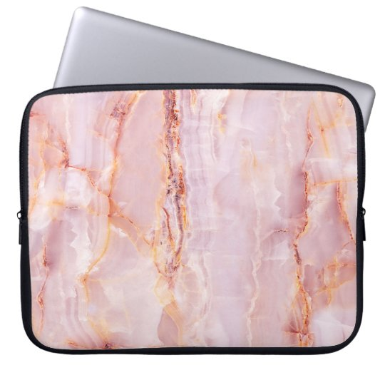 beautiful,pink,marble,girly,nature,stone,elegant,g laptop sleeve