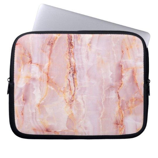 beautiful,pink,marble,girly,nature,stone,elegant,g laptop sleeve