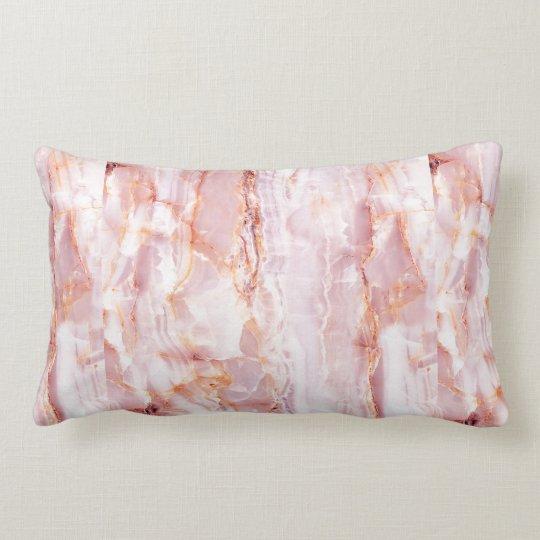 beautiful,pink,marble,girly,nature,stone,elegant,g lumbar cushion