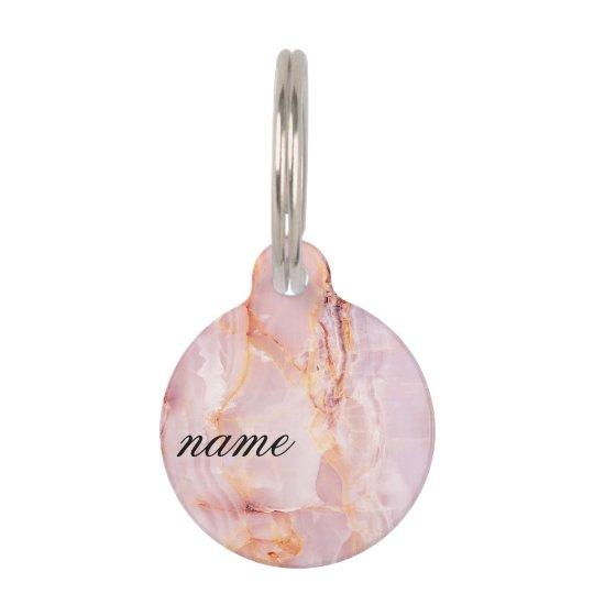 beautiful,pink,marble,girly,nature,stone,elegant,g pet tag