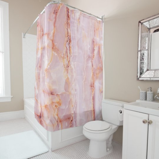 beautiful,pink,marble,girly,nature,stone,elegant,g shower curtain