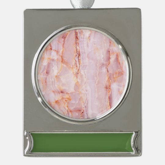beautiful,pink,marble,girly,nature,stone,elegant,g silver plated banner ornament