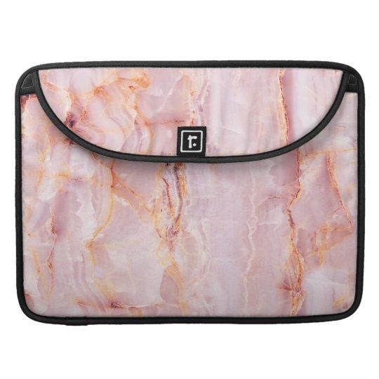 beautiful,pink,marble,girly,nature,stone,elegant,g sleeve for MacBook pro