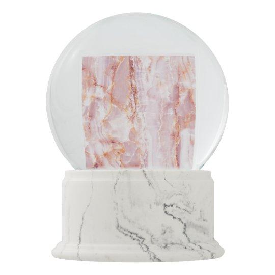 beautiful,pink,marble,girly,nature,stone,elegant,g snow globe