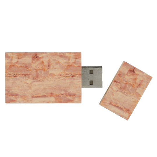beautiful,pink,marble,girly,nature,stone,elegant,g wood USB flash drive