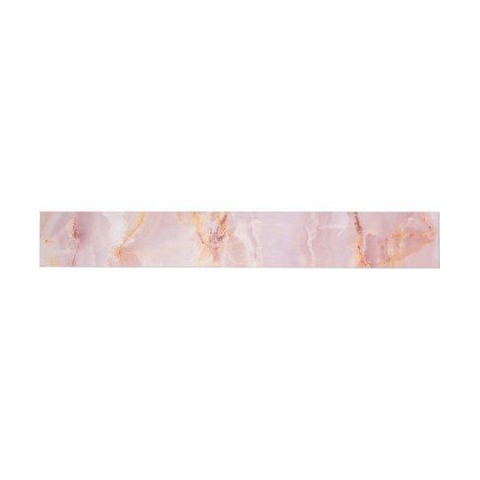beautiful,pink,marble,girly,nature,stone,elegant,g wraparound address label
