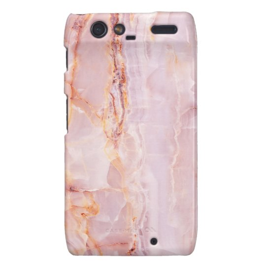 beautiful,pink,marble,girly,nature,stone,elegant, motorola droid RAZR cover