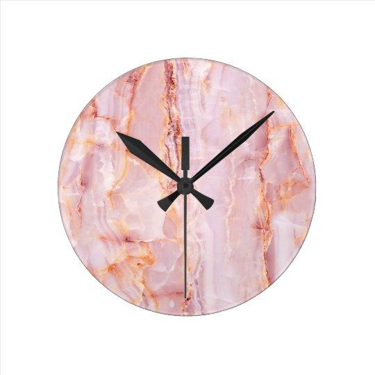 beautiful,pink,marble,girly,nature,stone,elegant, round clock