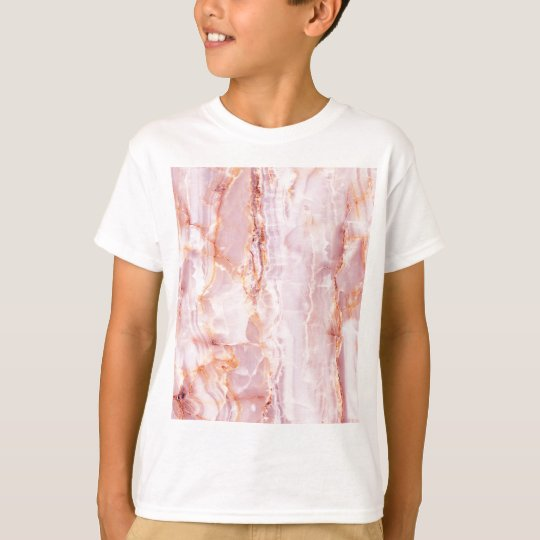 beautiful,pink,marble,girly,nature,stone,elegant, T-Shirt