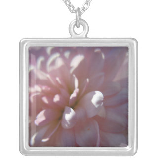 Beautiful Pink Mum Silver Plated Necklace