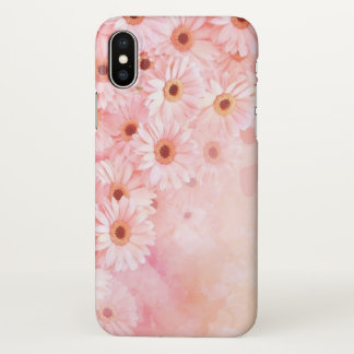 beautiful pink nature flowers art iPhone x case