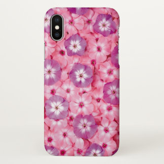 beautiful pink nature flowers iPhone x case