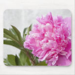 Beautiful pink peony flower floral custom mousepad