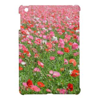 Beautiful pink poppy print Ipad mini case