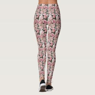 Beautiful Pink Rose Leggings