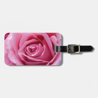 Beautiful Pink Rose Luggage Tag