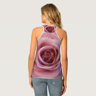 Beautiful Pink Rose Up Close Picture Tank Top