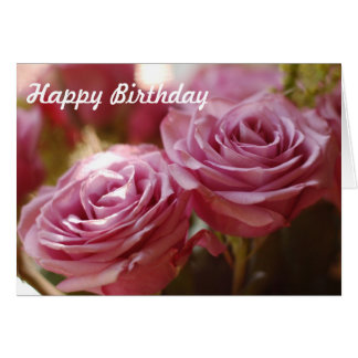 Beautiful Pink Roses Card