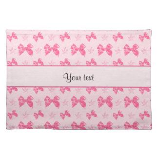 Beautiful Pink Satin Bows Placemat
