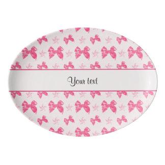 Beautiful Pink Satin Bows Porcelain Serving Platter