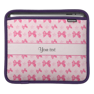 Beautiful Pink Satin Bows Sleeve For iPads