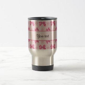Beautiful Pink Satin Bows Travel Mug