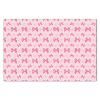 Beautiful Pink Satin Effect Bows Tissue Paper