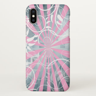 beautiful pink silver abstrack art iPhone x case