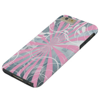 beautiful pink silver flowers abstract vector art tough iPhone 6 plus case