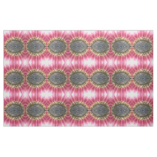 Beautiful Pink Sunflower Floral Patterned Fabric
