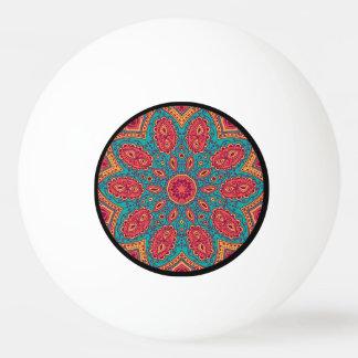 Beautiful Pink Teal Orange Zen Pattern Ping Pong Ball
