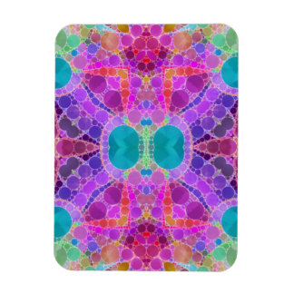 Beautiful Pink Turquoise Abstract Rectangular Photo Magnet