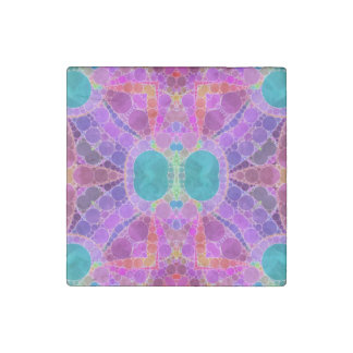 Beautiful Pink Turquoise Abstract Stone Magnet