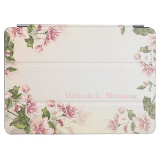 Beautiful Pink Victorian Floral Flowers iPad Air Cover
