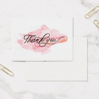 ★ Beautiful Pink Watercolour Thank you Business Card