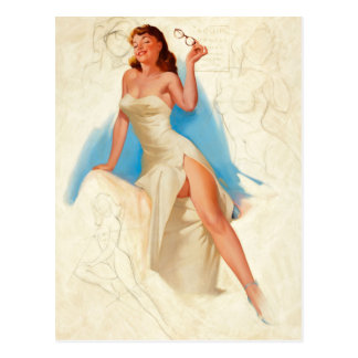 Beautiful PinUp girl Postcard