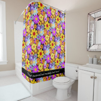Beautiful Plaid Flower Collectiion Pattern Shower Curtain