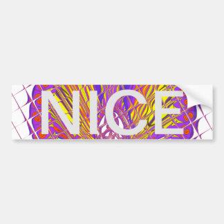 Beautiful Plum Amazing Colorful Pattern Design. Bumper Sticker