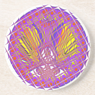 Beautiful Plum Amazing Colorful Pattern Design. Coaster