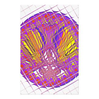 Beautiful Plum Amazing Colorful Pattern Design. Stationery