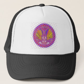 Beautiful Plum Amazing Colorful Pattern Design. Trucker Hat