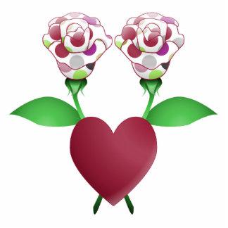 Beautiful Polka Dot Roses Ornament Photo Cut Outs