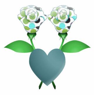 Beautiful Polka Dot Roses Ornament Cut Outs