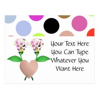 Beautiful Polka Dot Roses Postcard