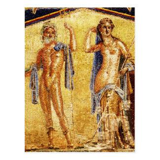 BEAUTIFUL Pompeii Mosaic Postcard